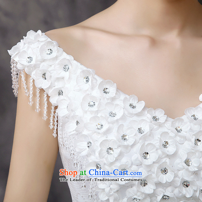 2015 new stylish white V-neck in the buds of Sau San Silk flower-bride wedding white picture, prices, XS brand platters! The elections are supplied in the national character of distribution, so action, buy now enjoy more preferential! As soon as possible.