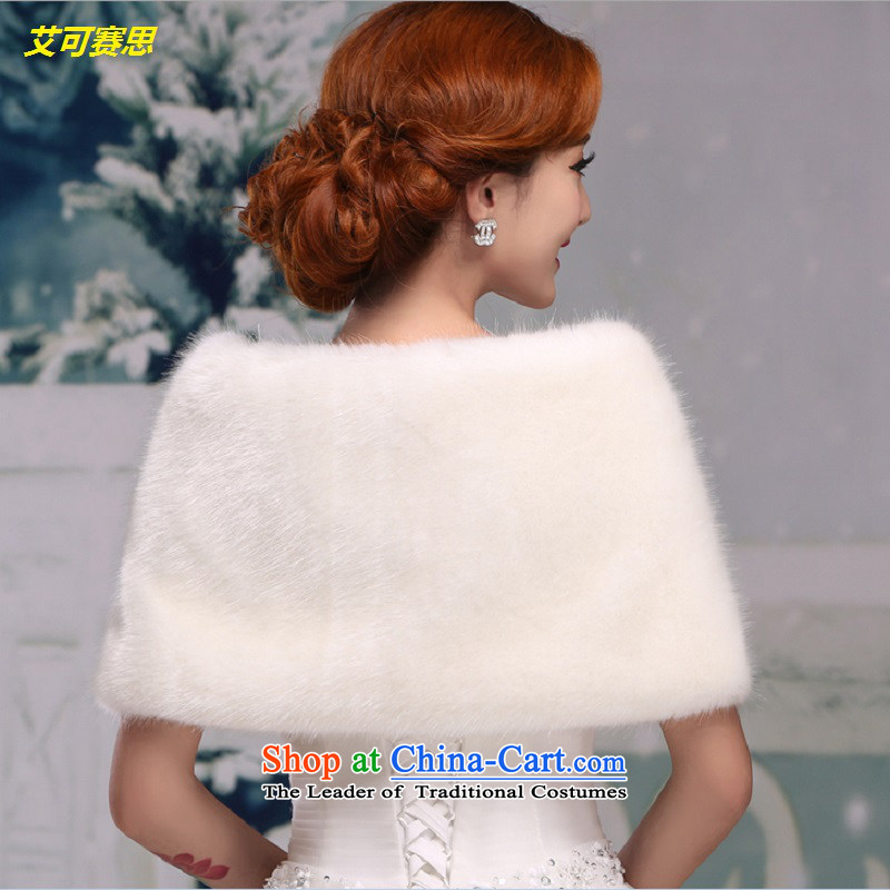 Hiv can be second Red Shawl bride autumn and winter married women, rabbit wool female white cape winter thick warm white wedding dresses