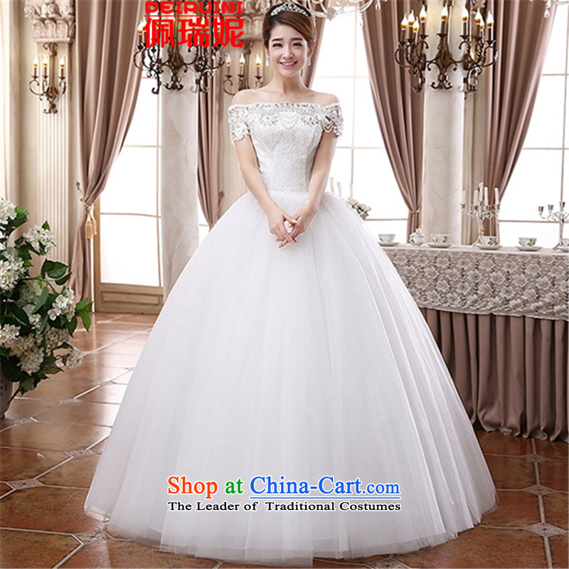 Pei, Connie?2015 classic lace engraving a field shoulder wedding Tier 9 large group before the skirt winter white?S