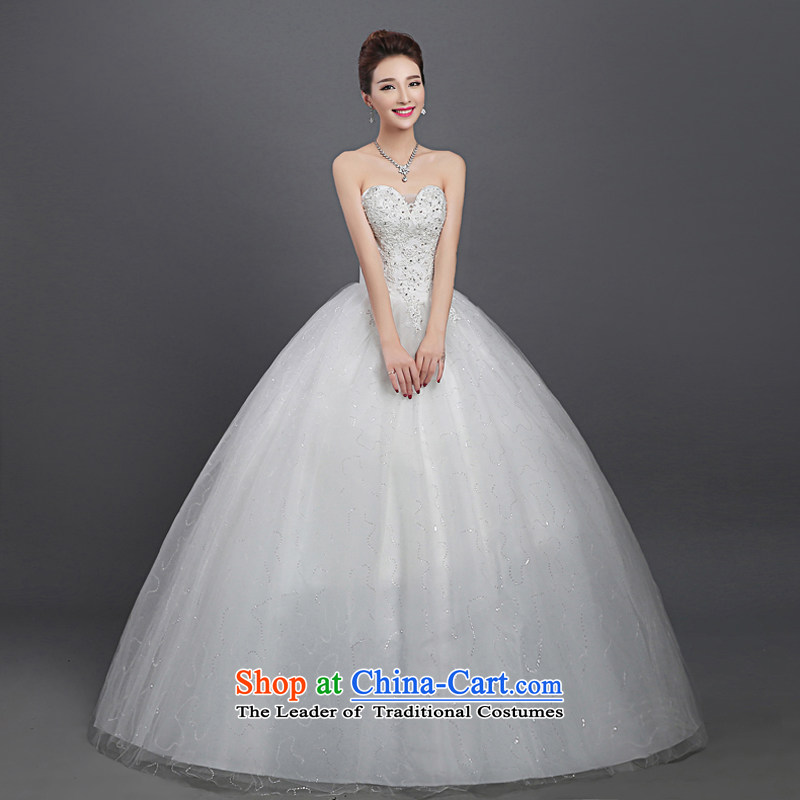 Wedding dress autumn 2015 new Korean minimalist-bride align wiping the chest to larger marriage wedding Sau San white winter XS