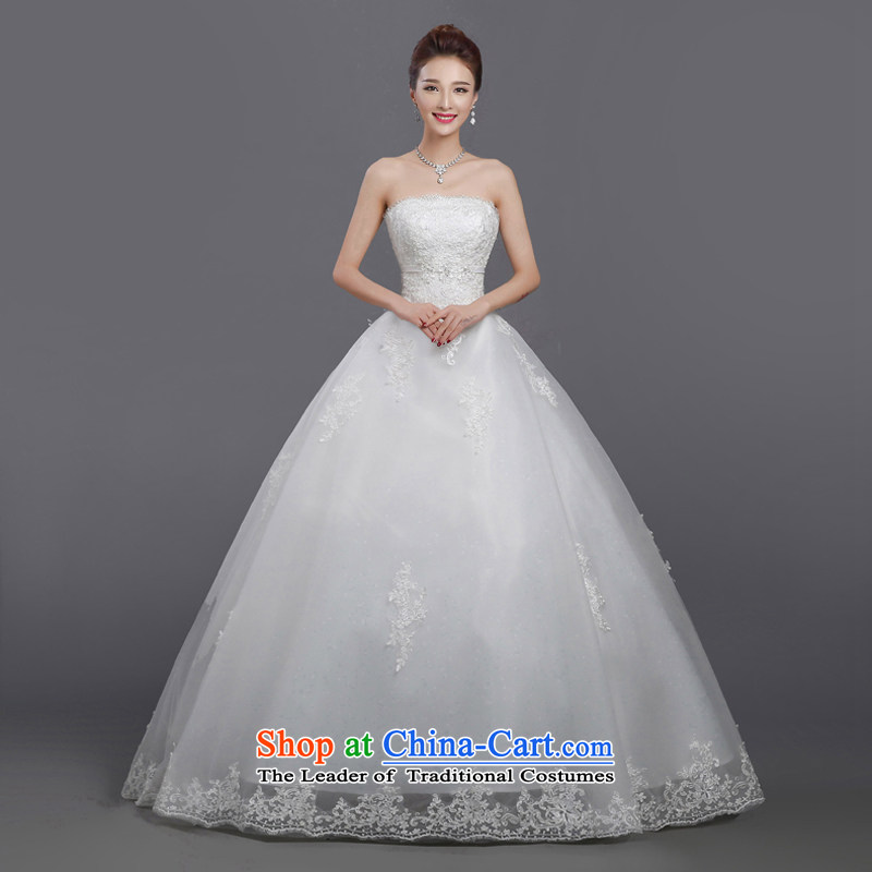 Wedding dress autumn 2015 new Korean minimalist-bride align wiping the chest to larger marriage wedding Sau San white winter S