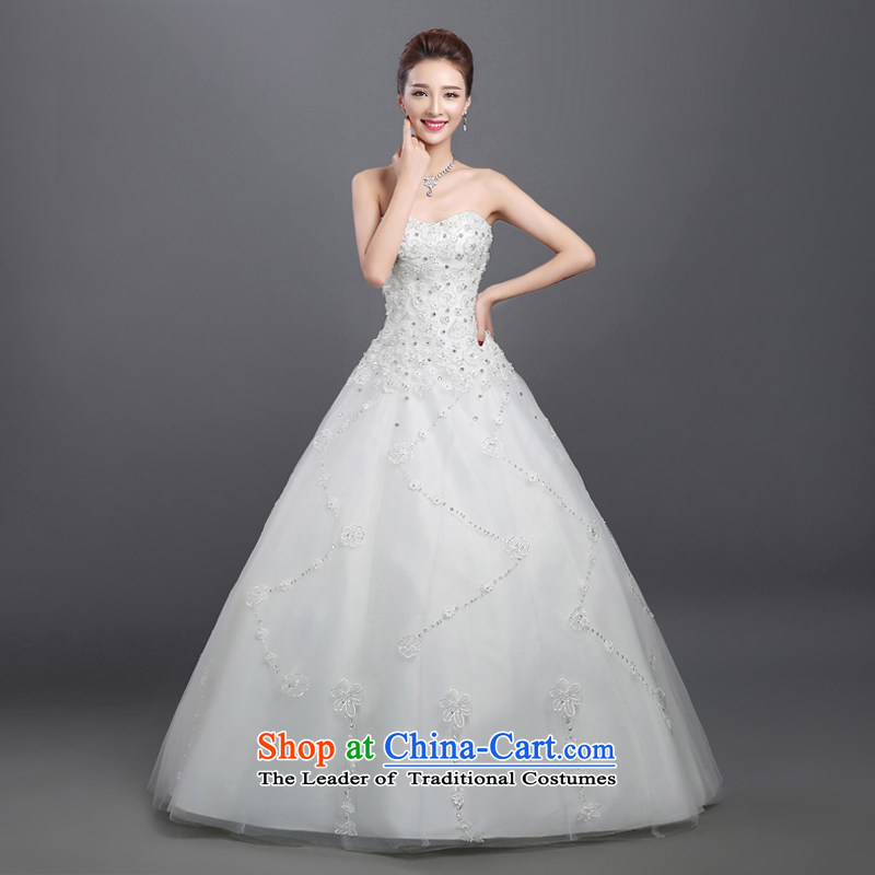 Wedding dresses 2015 Summer new marriages stylish anointed chest lace to align the minimalist Korean autumn and winter bon bon skirt White聽XL