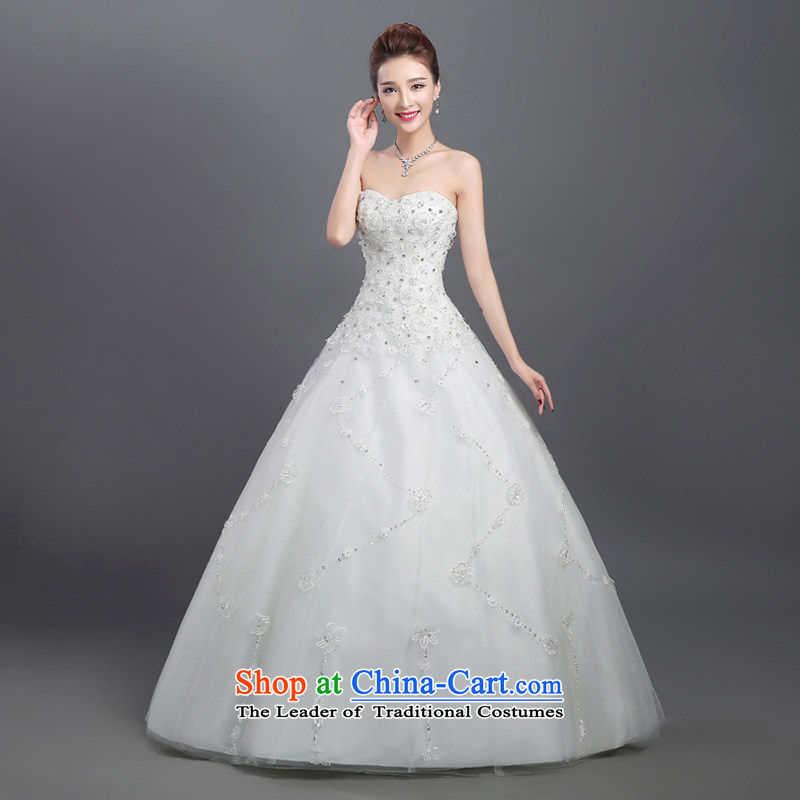Wedding dresses 2015 Summer new marriages stylish anointed chest lace to align the minimalist Korean autumn and winter bon bon WhiteXL, in accordance with the Netherlands skirt varies with the , , , shopping on the Internet
