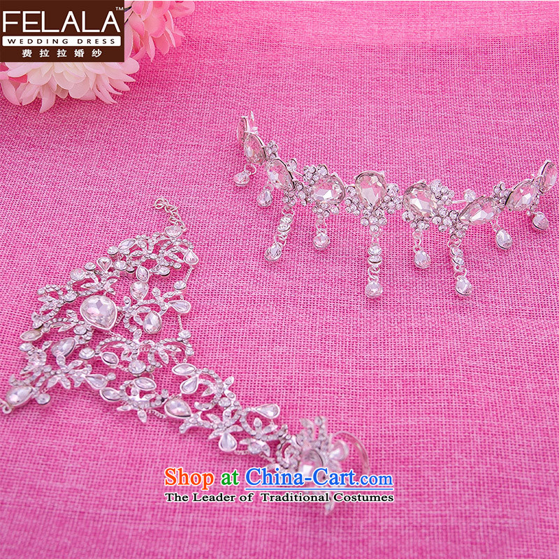 Ferrara wedding accessories crown hand chain kit bride Head Ornaments marriage jewelry kit
