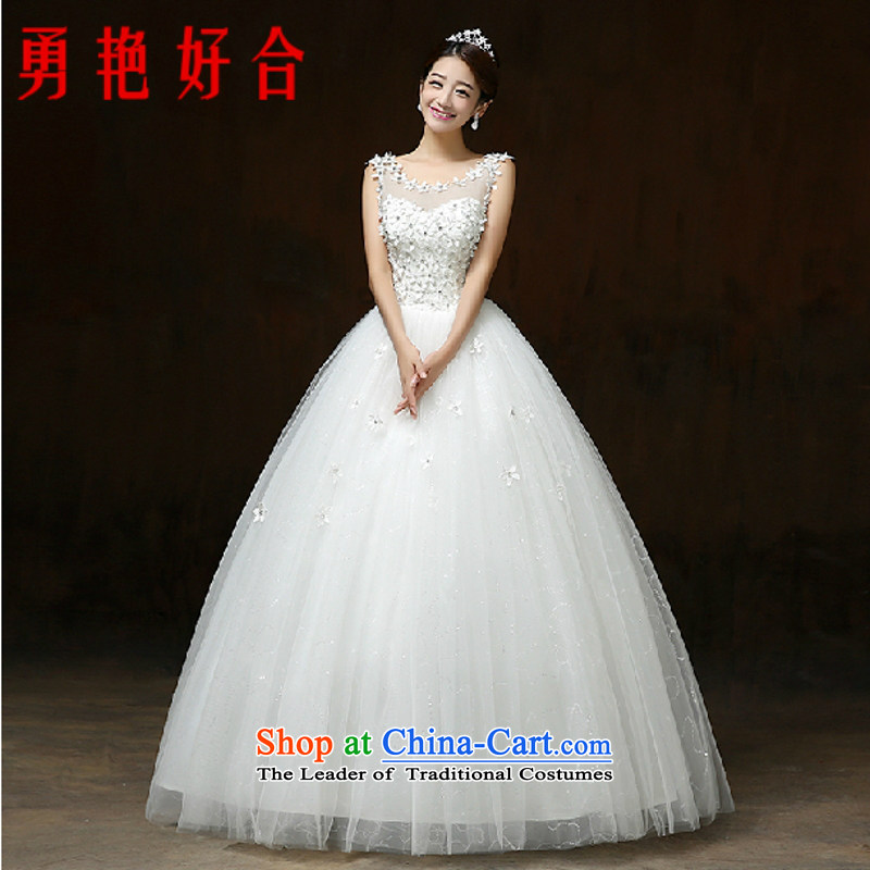 Yong-yeon and autumn 2015 new Korean minimalist shoulders to align graphics thin marriages wedding white winter�S