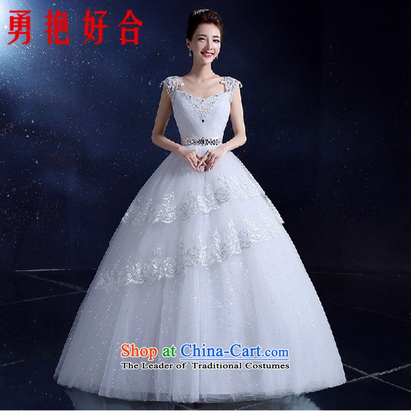 Yong-yeon and shoulders wedding dresses Korean align to bind with evening dresses 2015 autumn and winter new wedding video thin white quarter code聽XXL