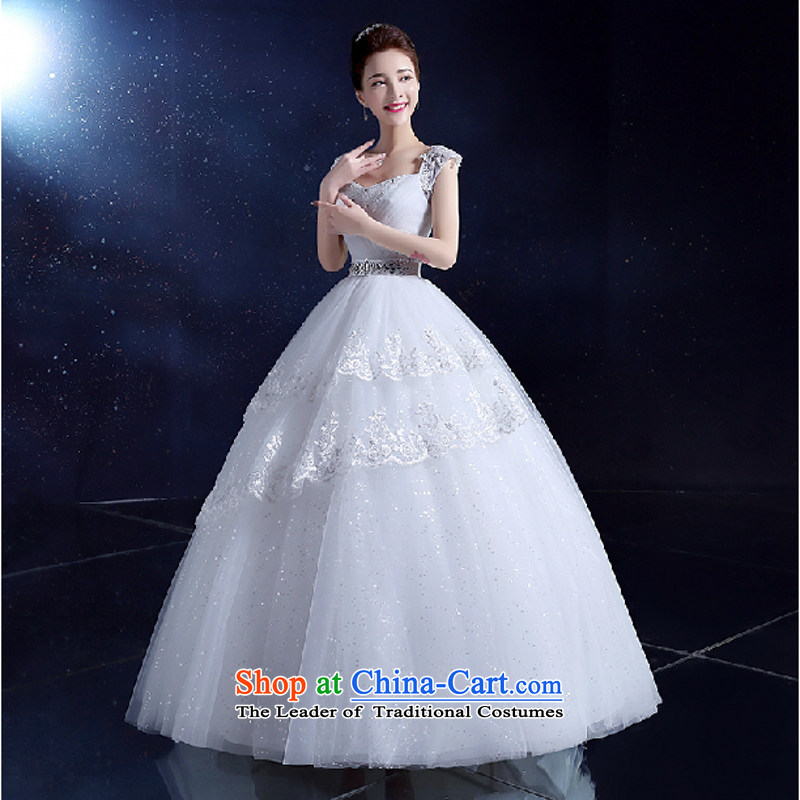 Yong-yeon and shoulders wedding dresses Korean align to bind with evening dresses 2015 autumn and winter new wedding video thin white quarter code XXL, Yong-yeon and shopping on the Internet has been pressed.