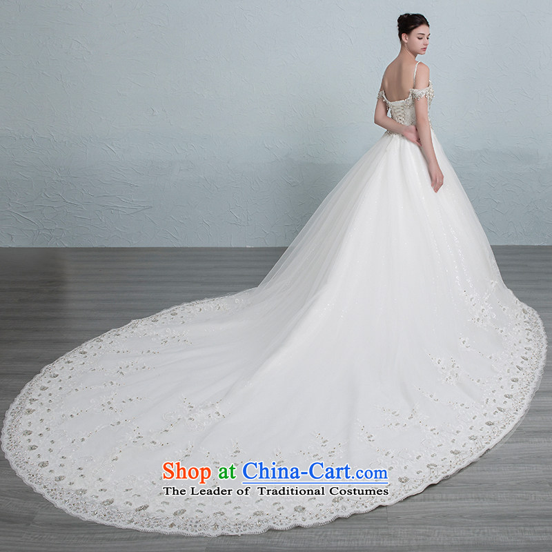Is the word glittering Grand Palace shoulder trailing white diamond wedding tailored, is set , , , shopping on the Internet