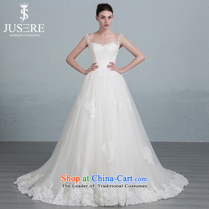 In accordance with the set is m wedding dresses Korean shoulders small trailing bon bon skirt White�2 code