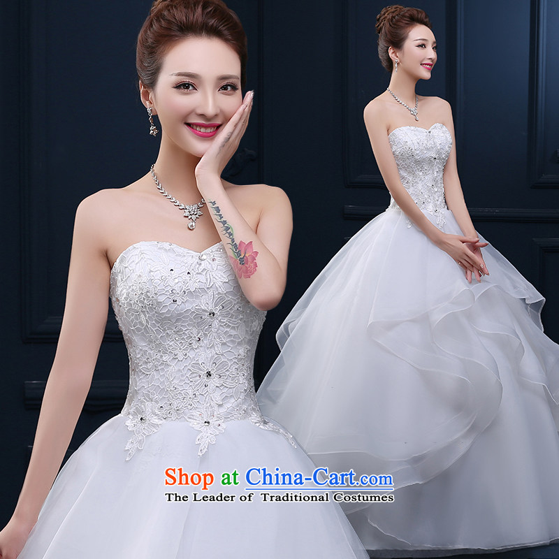 Tim hates makeup and the new 2015 winter wedding short of Princess wedding alignment with chest retro billowy flounces straps wedding dress winter HS005 white tailored does not allow