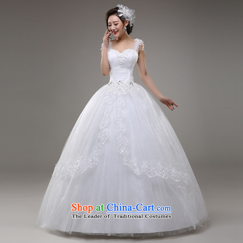 Tim hates makeup and wedding dresses new 2015 winter bride wedding long tail marriage video thin lace of autumn and winter Sau San wedding, the major short code HS003 white tailored does not allow
