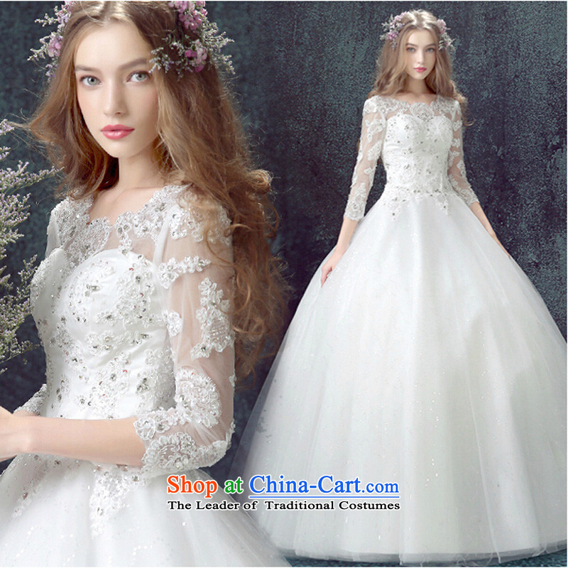 The new 2015 marriages wedding word shoulder wedding dress to align A Wedding out of Korean Bridal Suite White�S