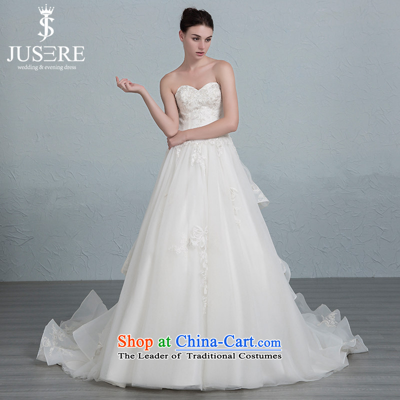 There is a sea of Yao wedding dresses and chest bind billowy flounces small trailing white�6 yards