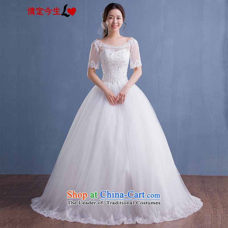 Love of the overcharged new Word 2015 Autumn white shoulder diamond lace align to bon bon straps graphics thin skirt wedding wedding dress female white S