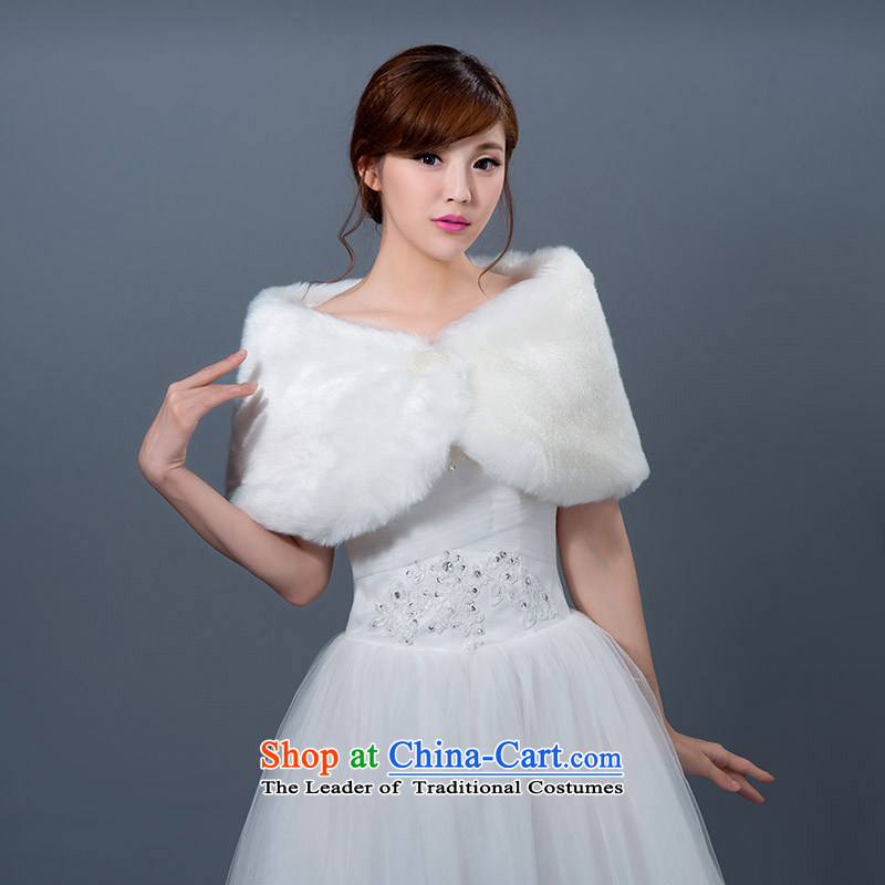 Seal the?new 2015 Jiang gross wedding dresses shawl shawl qipao bridesmaid marriage jacket bride shawl red and white autumn and winter White