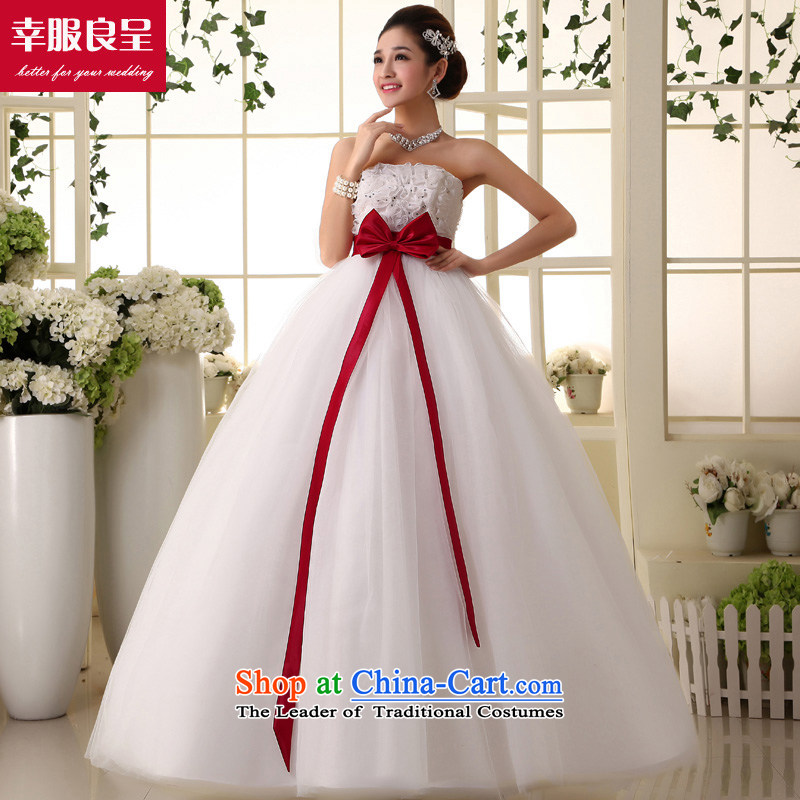 The privilege of serving-leung and chest wedding new 2015 Korean Top Loin of pregnant women wedding dresses princess large thick mm white聽3XL Puntland Skirt