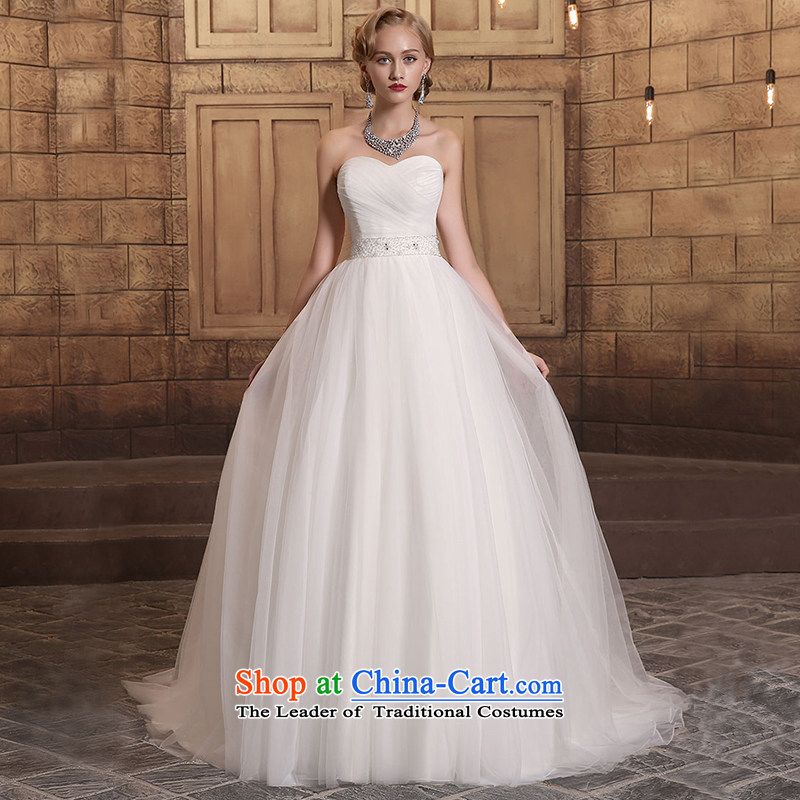 Custom dressilyme wedding by 2015 autumn and winter in the breast of Hamor the new waist belt bow tie zipper small trailing bon bon princess wedding dresses ivory - no SPOT聽XS