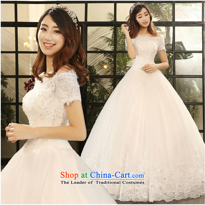 Pure Love bamboo yarn wedding dresses 2015 new winter wedding a field to align the shoulder wedding wedding anointed chest Sau San wedding female custom tailored white does not allow