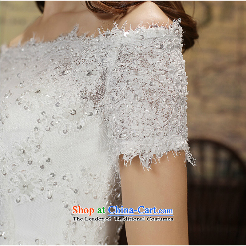 Pure Love bamboo yarn wedding dresses 2015 new winter wedding a field to align the shoulder wedding wedding anointed chest Sau San wedding female custom tailored white does not allow, pure love bamboo yarn , , , shopping on the Internet
