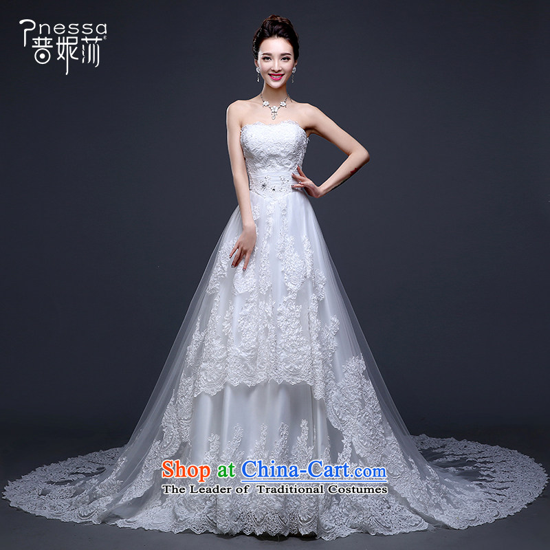 The Republika Srpska divas wedding dresses new stylish Korean 2015 wedding dress long tail bride anointed chest wedding water drill large number of nostalgia for the winter wedding advanced customization wedding white?L