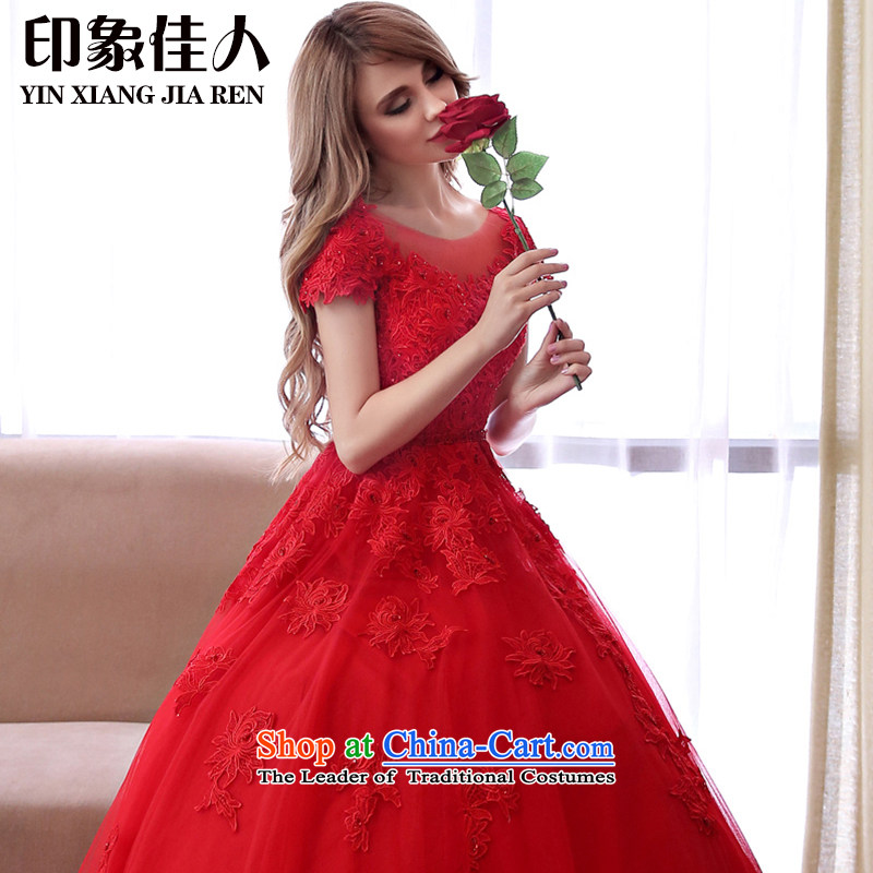 Starring impression of the Word 2015 new shoulder wedding big red code wedding dresses thick mm video coltish waist wedding Korean?M