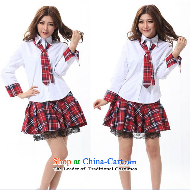 Pure students with college courses to school uniform DS costumes dance night girl Raped By An Angel stage services school uniform to temptation, Japan and the Republic of Korea was serving school uniform version White XL