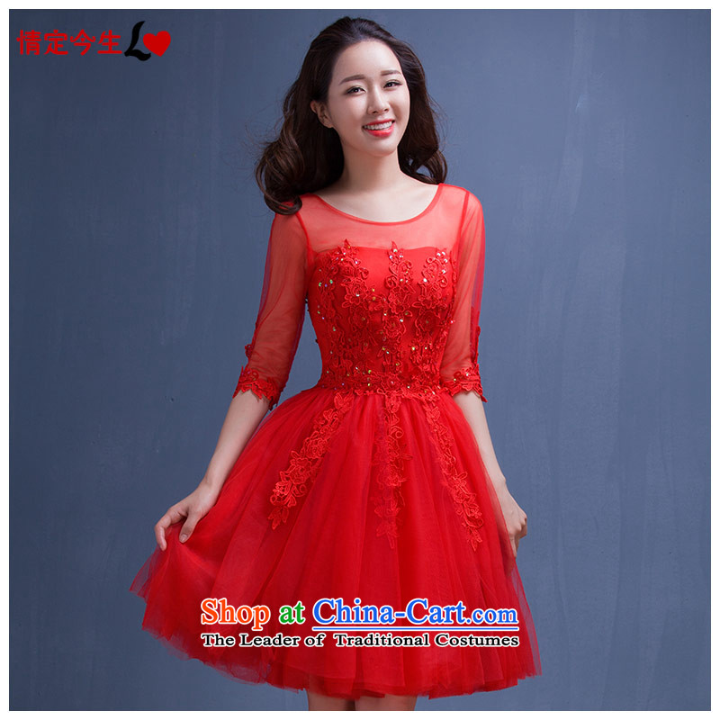 Love of the overcharged? by 2015 new wedding marriage summer short of pregnant women big red dress code bride dress winter clothing female red bows?L