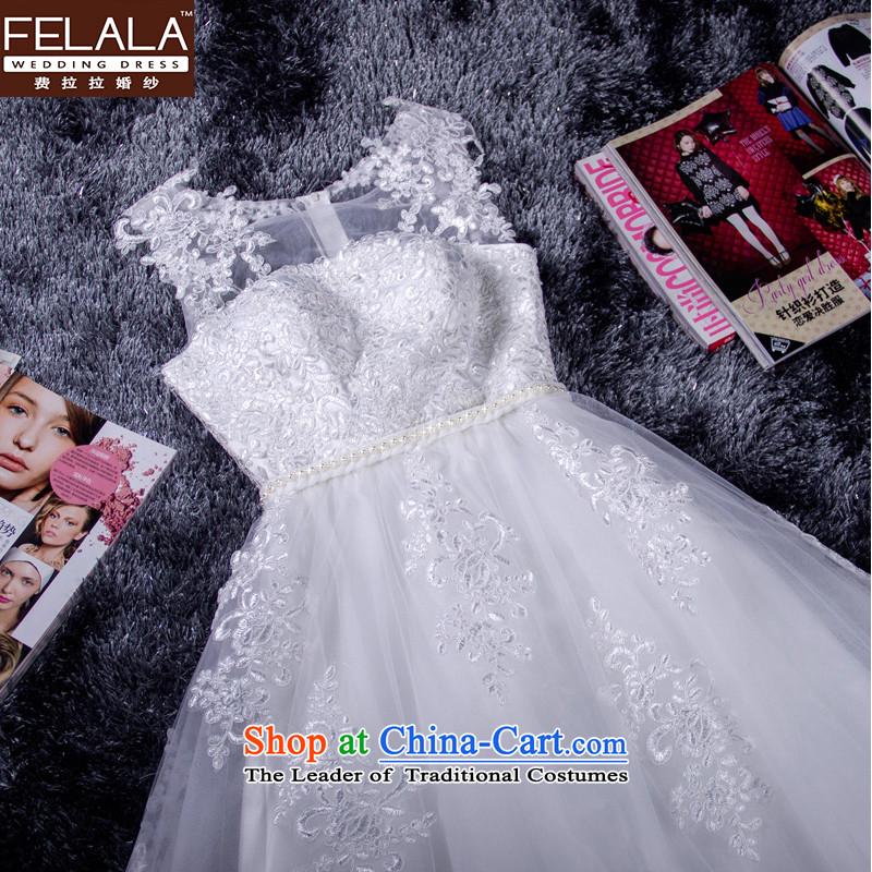 Ferrara Korean style white lace in long gown?2015 new annual bridesmaid small dress dinner with skirt winter?M