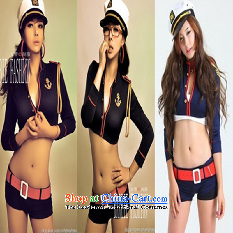 Sexy female police uniform uniform temptation nightclubs ds dance performances to air hostesses services services photo album service pipes dance naval air hostesses serving bar serving both the dance with code hat White