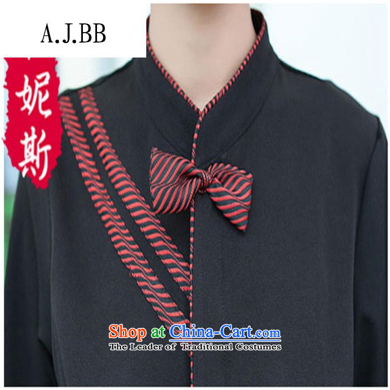 The Secretary for Health related shops * hotel cafe autumn and winter clothing with long-sleeved men hotel restaurant with Hot Pot Restaurant in Ladies black T-shirt (red + apron) M,A.J.BB,,, shopping on the Internet