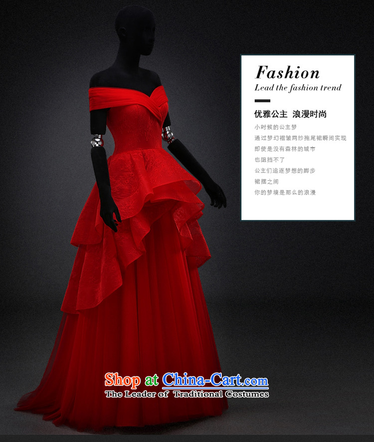 Hillo XILUOSHA) Lisa (bride bows services wedding dresses Red slotted shoulder dress pregnant women wedding dress evening dresses 2015 new winter red L picture, prices, brand platters! The elections are supplied in the national character of distribution, so action, buy now enjoy more preferential! As soon as possible.