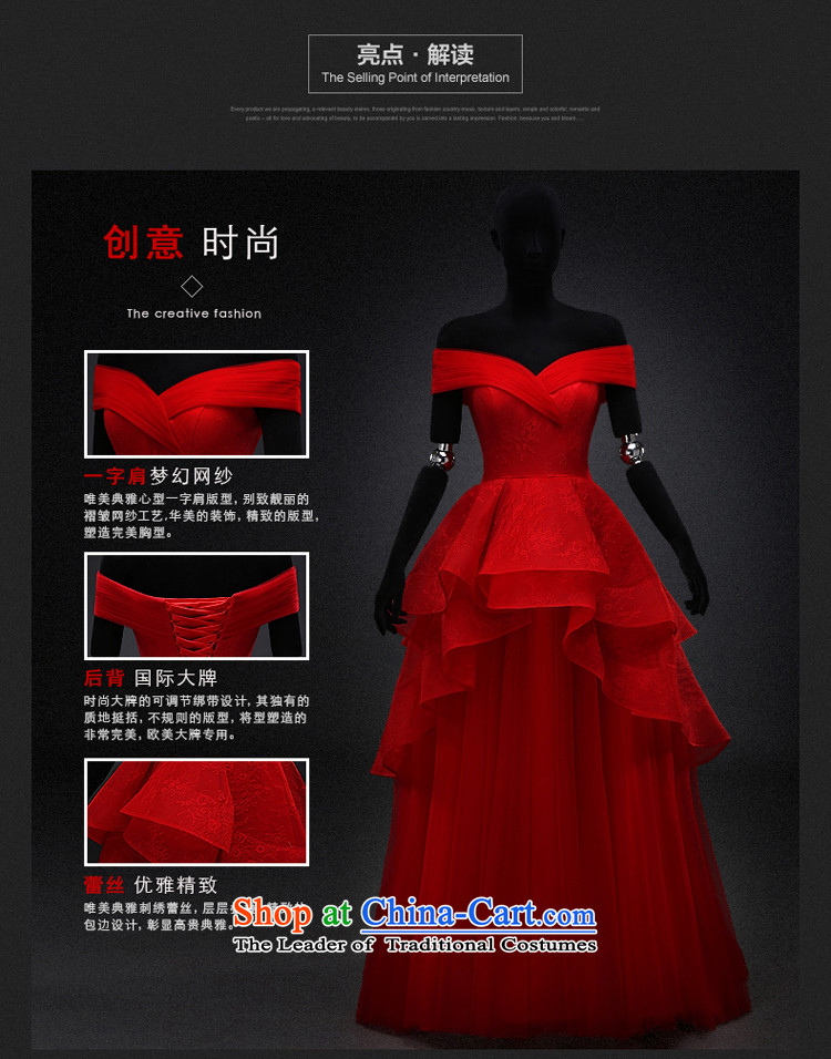 Hillo XILUOSHA) Lisa (bride bows services wedding dresses Red slotted shoulder dress pregnant women wedding dress evening dresses 2015 new winter red聽L picture, prices, brand platters! The elections are supplied in the national character of distribution, so action, buy now enjoy more preferential! As soon as possible.