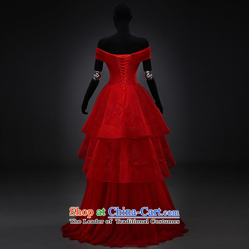 Hillo XILUOSHA) Lisa (bride bows services wedding dresses Red slotted shoulder dress pregnant women wedding dress evening dresses 2015 new winter red, L HILLO Lisa (XILUOSHA) , , , shopping on the Internet