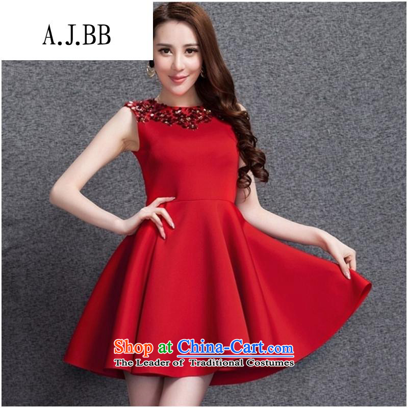 _ The European clothing shops involved and at 2015 annual meeting of the dresses even bride small services space cotton vest skirt larger autumn and winter dresses in RED?M