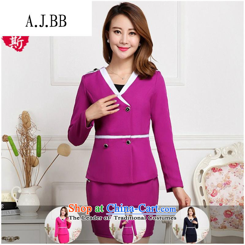 * The new clothes shops and involving commodities Fall/Winter Collections female hotel manager long-sleeved clothing and trendy attire, better red (T-shirt) XXL