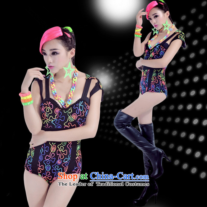 The 2015 new western night �ư�Ů ds will stage costumes fluorescent sexy dance services-singer service DJ picture color?S