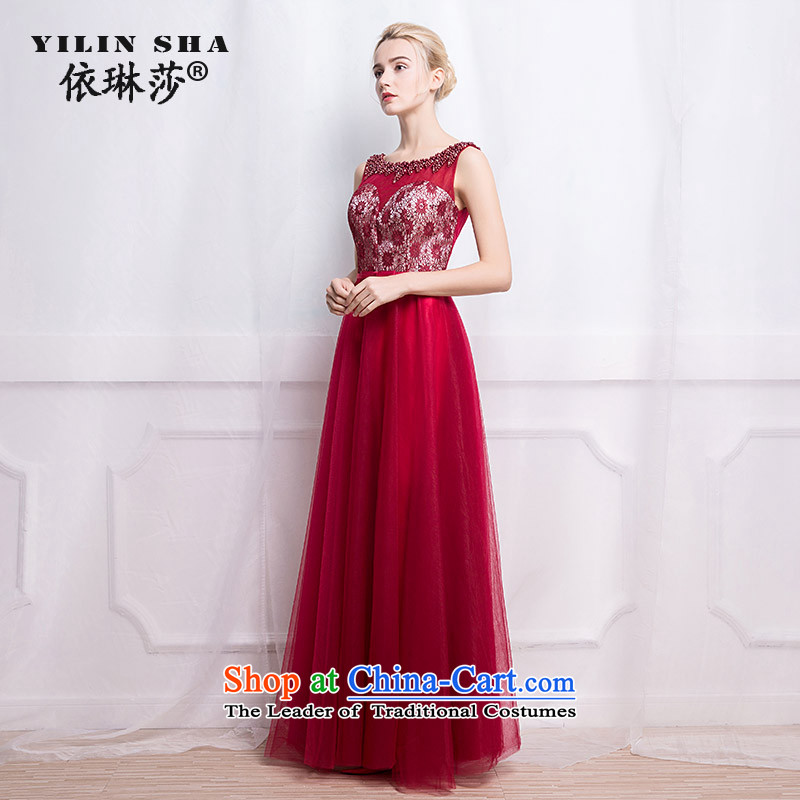 According to Lin Sha 2015 new marriages wine dinner dress uniform dress bows Sau San long wedding dress�S