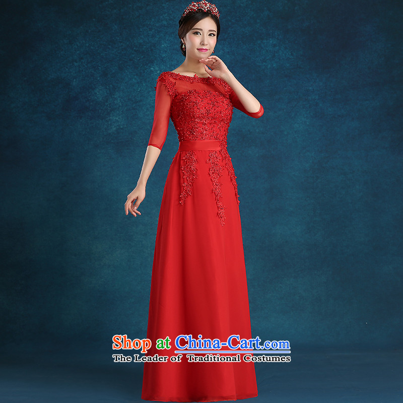 Tim hates makeup and 2015 New Red Dress long marriages bows services wedding dresses winter bride dress 7 Cuff LF057 red tailored does not allow