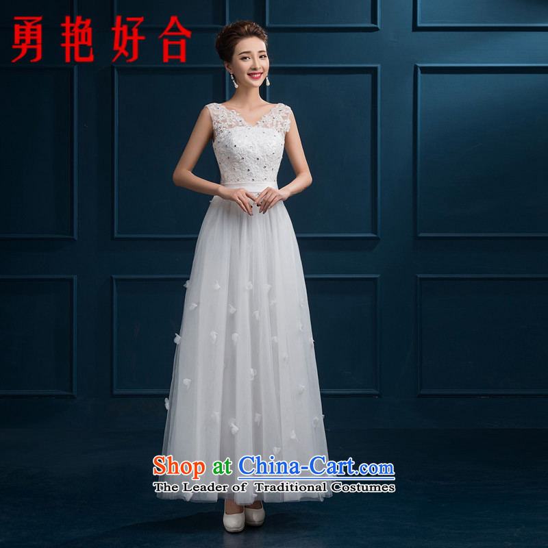 Yong-yeon and evening dresses 2015 new autumn and winter jackets bride services banquet length of bows bridesmaid to serve as the size of the white color is not a replacement for a