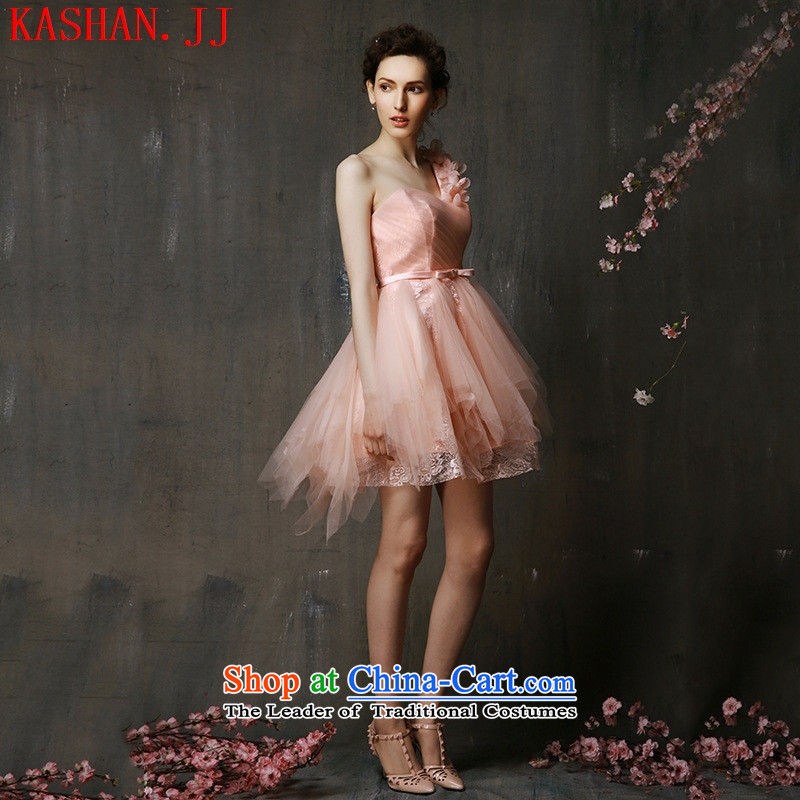 Mano-hwan's bridesmaid Dress Short of mission sister skirt small dress 2015 new spring and summer sweet drink service bridal dresses graduated from bare pink (5 days) are pre-sale Codes