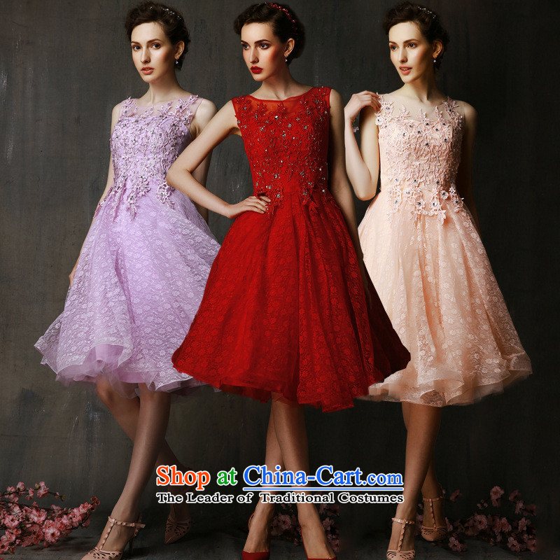 The non-marriage Service Bridal Summer 2015 followed the New Evening Dress Short of red bridesmaid services shoulders lace stylish concept of Sau San zipper custom here cannot return codes are adjustable straps