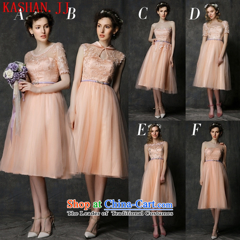 Mano-hwan's 2015 new bridesmaid dress short, Mr Ronald pink dress bride bows services bridesmaid skirt bridesmaid small in all Pink dresses D are code