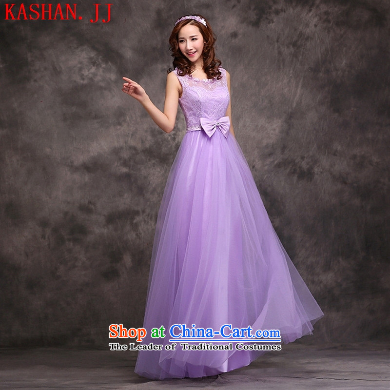 Mano-hwan's 2015 new spring and summer purple bridesmaid dress long serving drink service brides sister banquet evening dresses bridesmaid skirt?D?M