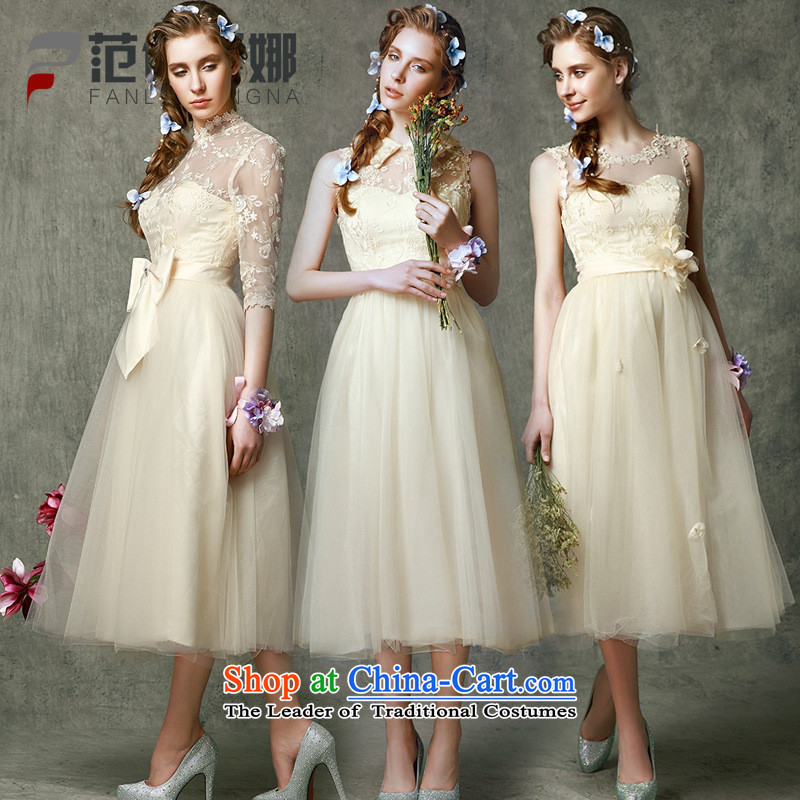 Mano-hwan's new dresses bridesmaid bridesmaid services Summer 2015 short video, thin bridesmaid in evening dress bridesmaid skirt bows Service Bridal bare pink C larger Xl-xxxl