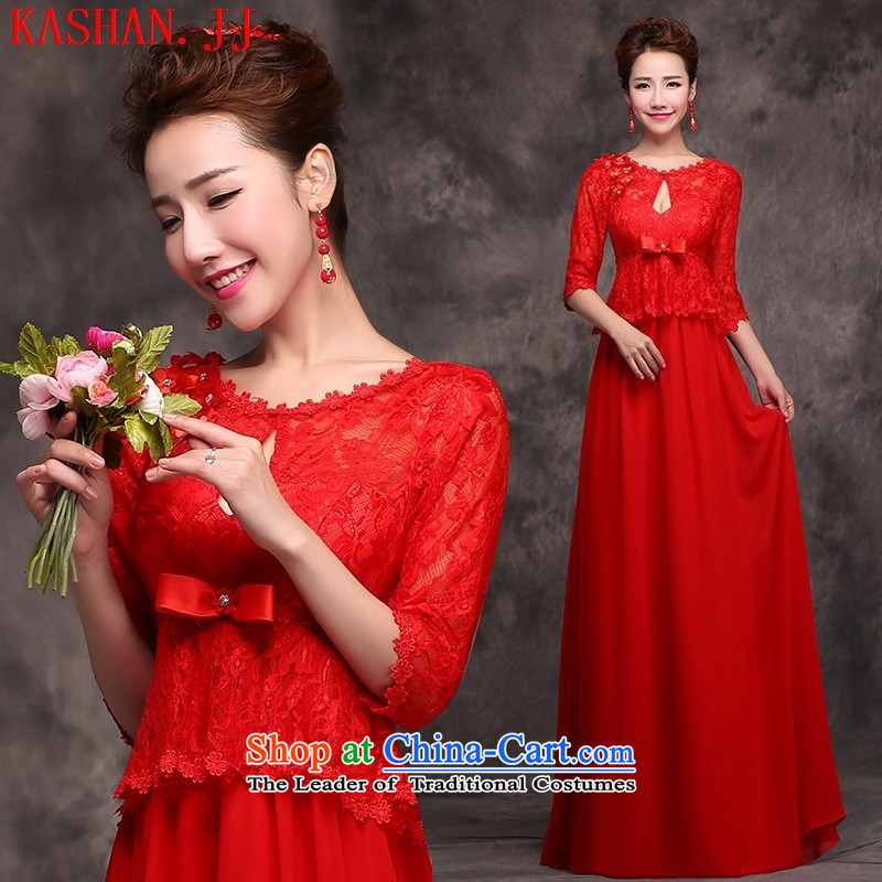 Mano-hwan's 2015 new anointed chest red marriages pregnant women serving long summer toasting champagne evening dresses Girls High large waist dress?(dress + + thick chest hair shawl DIY) package are code