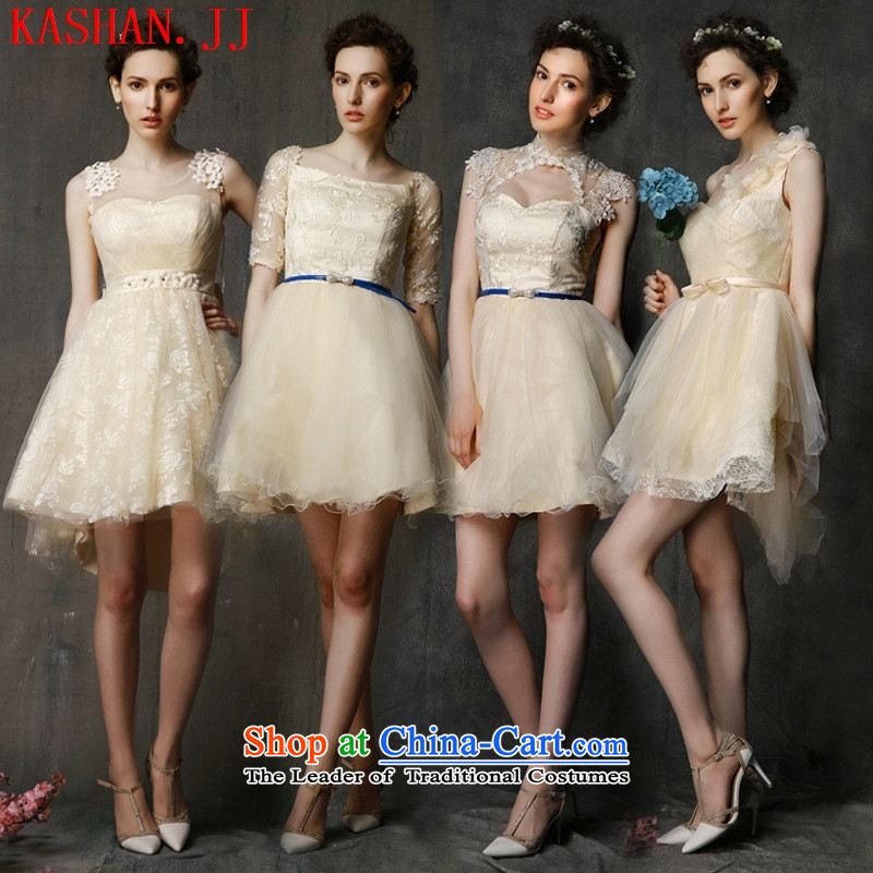 Mano-hwan's 2015 new bridesmaid dress dresses female bridesmaid Service, Mr Ronald bows Service Bridal bridesmaid in evening dress champagne color D are code