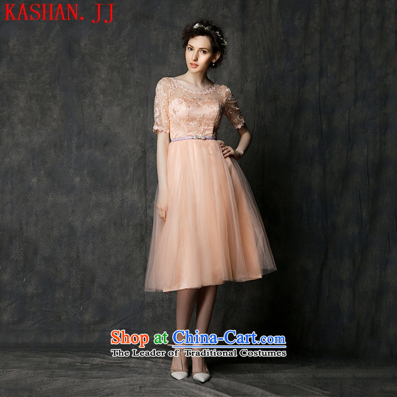 Mano-hwan's 2015 new bridesmaid dress short, Mr Ronald small dress bridesmaid skirt sister skirt bridesmaid mission evening dresses bows Services 2306 All Pink D are code