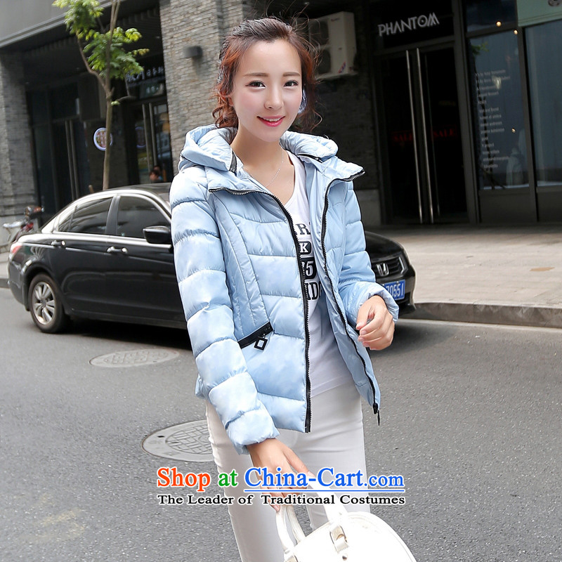 Real-Concept 2015 Korean fashion short of a mock-neck cap downcoat female yellow�L