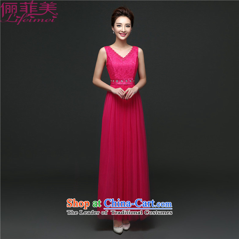 158, United States, Japan, and the rok dress sleeveless and shoulder strap V-Neck Top Loin of Princess dress long annual bridesmaid evening dresses in red long�L for 110-130 catty