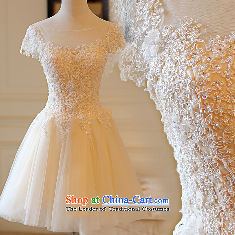 Kyrgyz-US married arts wedding dress the Word 2015 lace short, thin bridesmaid services video sister 7832 skirt bridal dresses color?M